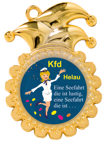 Medaille Gold mit Narrenkappe